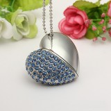 8GB USB Flash Memory Crystal Heart